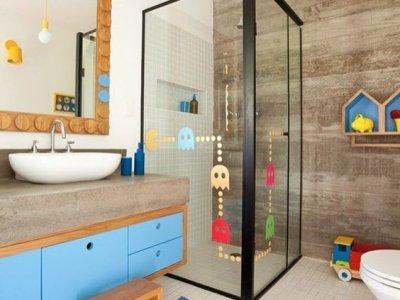 Çocuklarınızı Mutlu Edecek Banyo Dekorasyonu Örnekleri