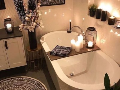 En Romantik 6 Banyo Dekorasyon Örneği